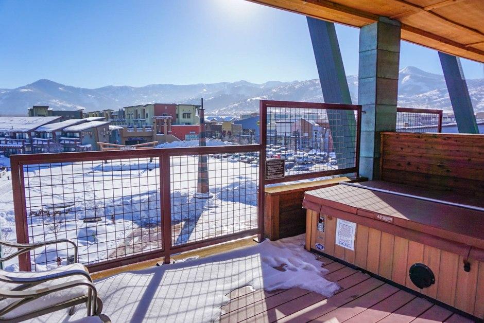 Newpark Resort Park City Utah Hot Tub View