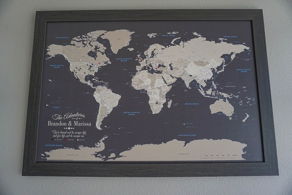 Push Pin Travel Map - Gifts for Travelers