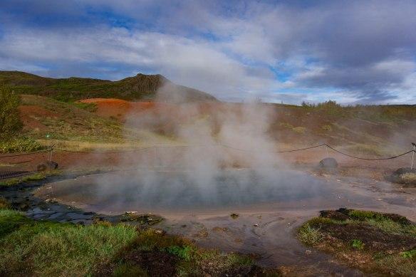 Geyser Haukadalur Icelands Golden Circle Road Trip