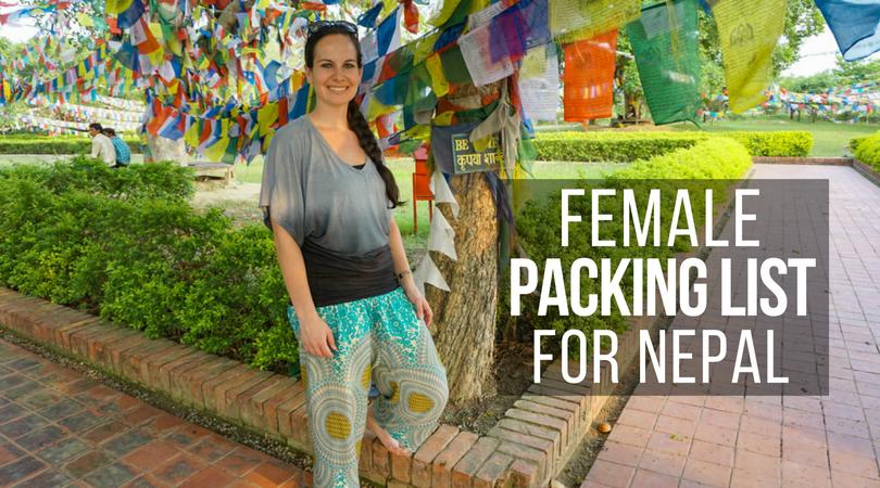 Female Packing List for Nepal - for Non-Trekkers