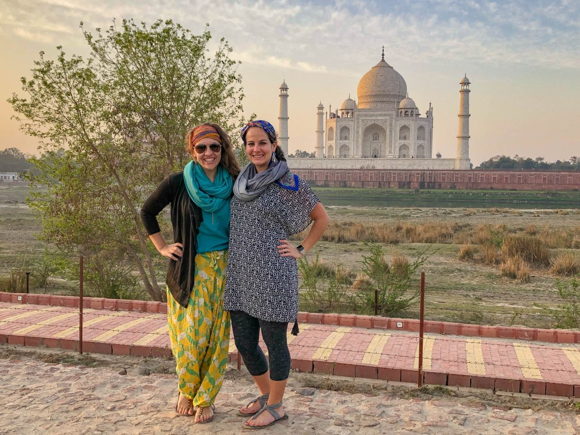 Waypoint Goods scarves at the Taj Mahal