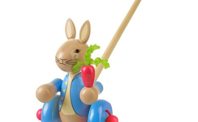 Wooden Push Along Peter Rabbit By Orange Tree Toys