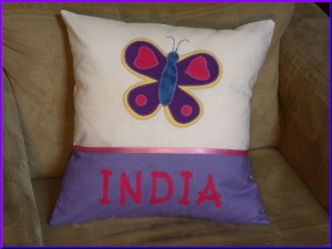 Handmade Made to Order personalised cushions for Girls