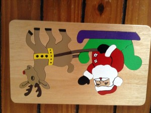 Handmade Wooden Christmas Puzzles