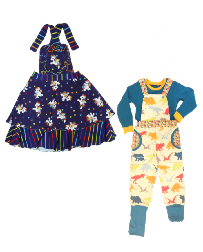S&R Kids Comfy Dungarees and Pinafore Dress Sewing Pattern PDF ...