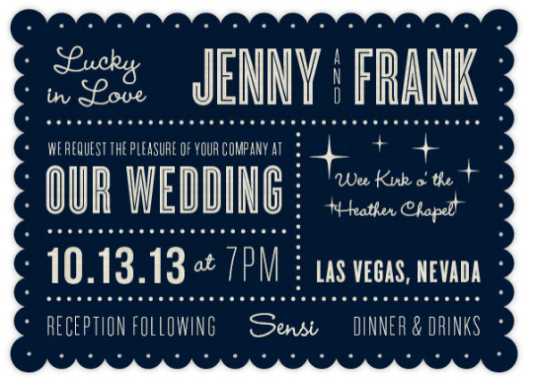 Las Vegas Wedding Invitation Wording: 7 Unexpected Las Vegas Wedding Invitations » Little Vegas