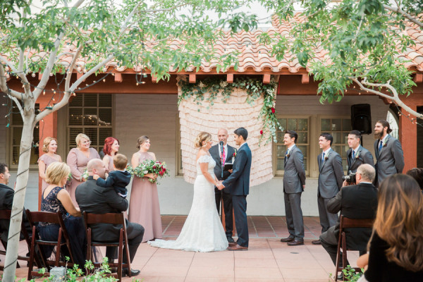 Quaint Courtyard Wedding At Historic Fifth Street School