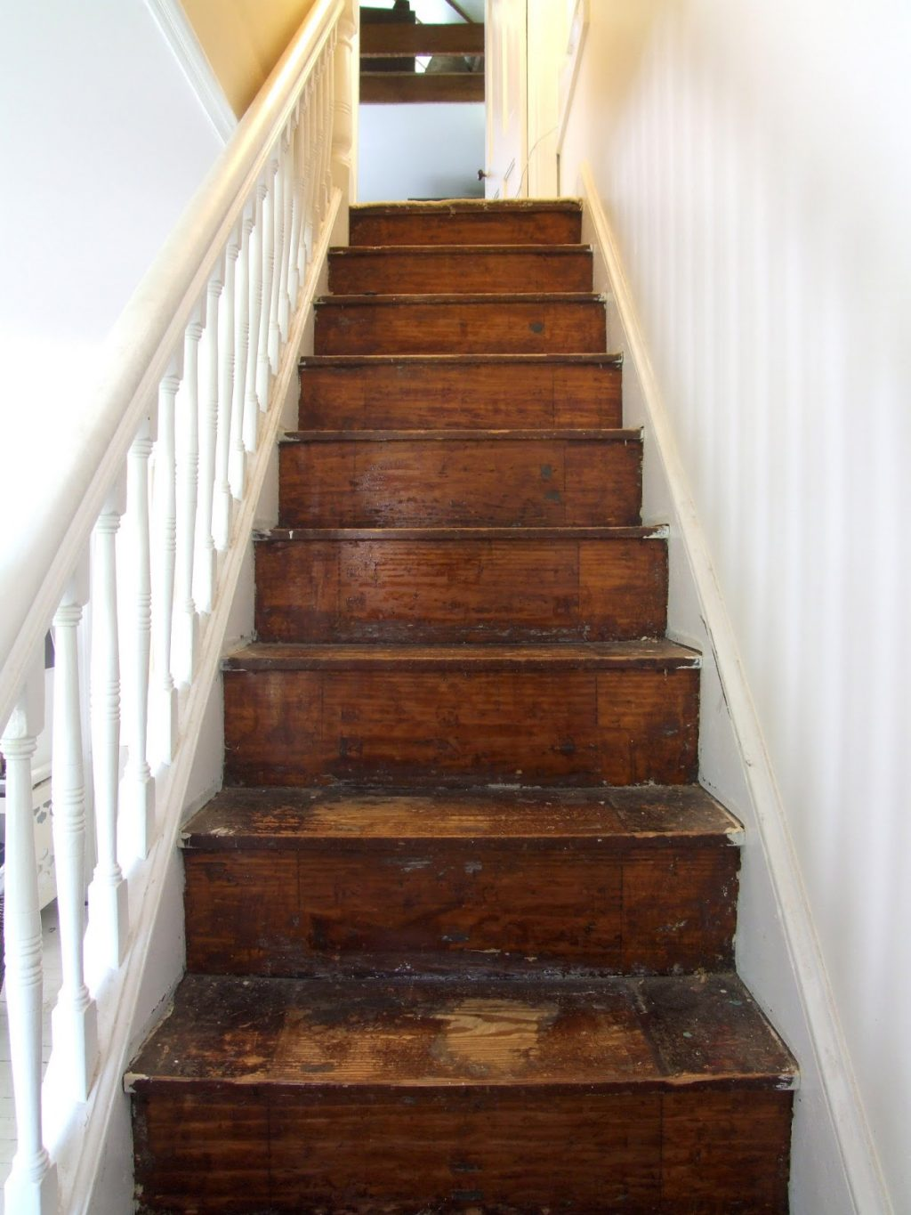 The stairs are half naked  Little Victorian