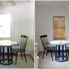 Art For The Kitchen Workstation Diy Wall Little Victorian Bamboo Blinds Before And After