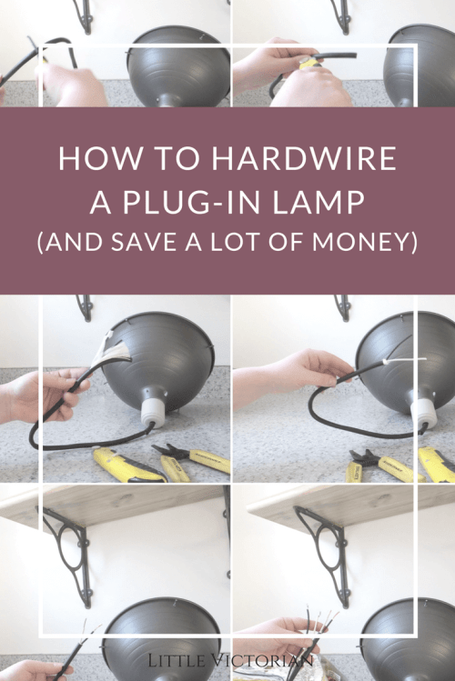 small resolution of how to turn a plug in light into a ceiling light it s really easy direct wiring a plug in light direct wiring a plug in light