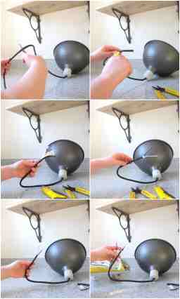 How To Turn A Plug In Light Into A Ceiling Light It S Really Easy