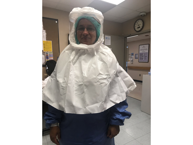 Sr. Anitta, RN working in hospital during Covid pandemic