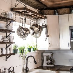Kitchen Pot Racks Nice Towels How To Build A Diy Rack And Secure It Your Ceiling Creating Custom Sized Designed Pieces For Space Makes Difference I Find When Something Fits Just Right Looks Intentional The Area Pulls
