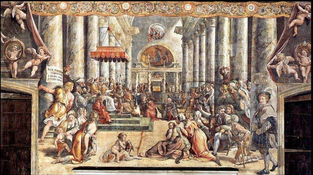 Giovanni Francesco Penni - La donazione di Costantino