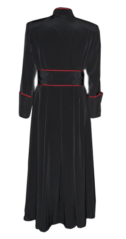 Roman Style Cassock With Band Cincture