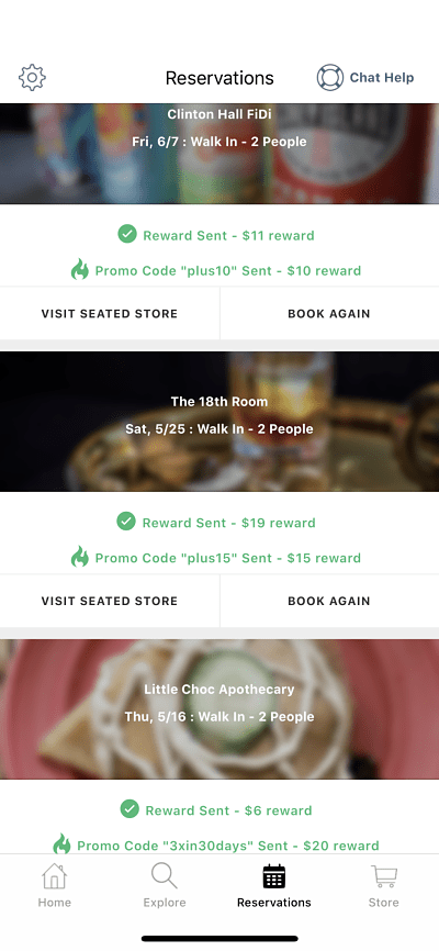 A screenshot of my Seated reservations, showing $81 in extra rewards. Use Seated referral code WILL322!