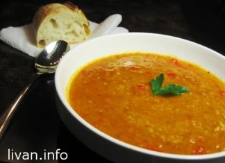 Суп из оранжевой чечевицы (Shorbet Addas)