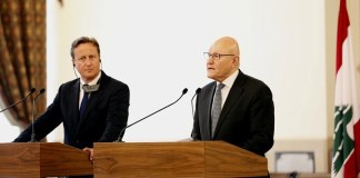 Премьер-министр Великобритании Дэвид Кэмерон и Премьер-министр Ливана Таммам Салам