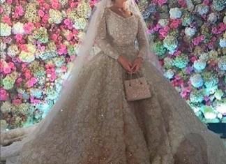 Elie Saab создал свадебный наряд за 27 млн руб. для невесты сына Гуцериева