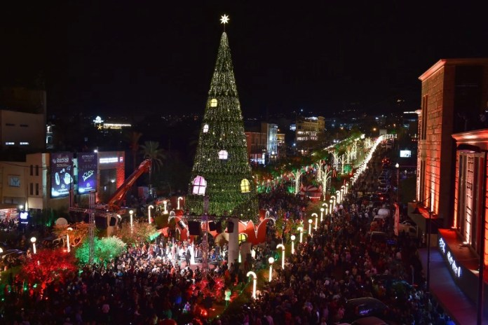 Christmas tree in Byblos