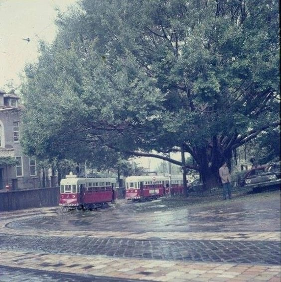 Трамвай на улице Бейрута в 1963 году
