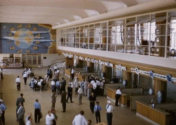 Аэропорт Бейрут в 50х