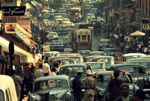 Уличная жизнь Бейрута в 70-х