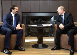 Владимир Путин провел в Сочи переговоры с премьер-министром Ливана Саадом Харири