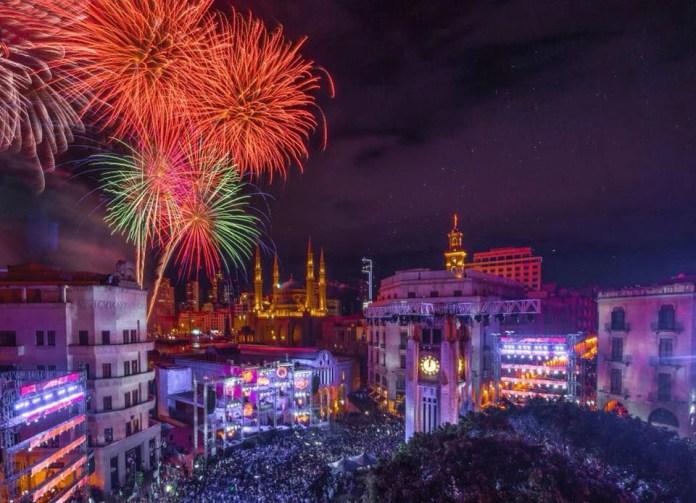 Новый год в Бейруте 2018. Фото