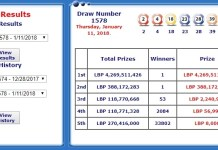 Выигран джек-пот 3 миллиона долларов США. в ливанскую лотерею.