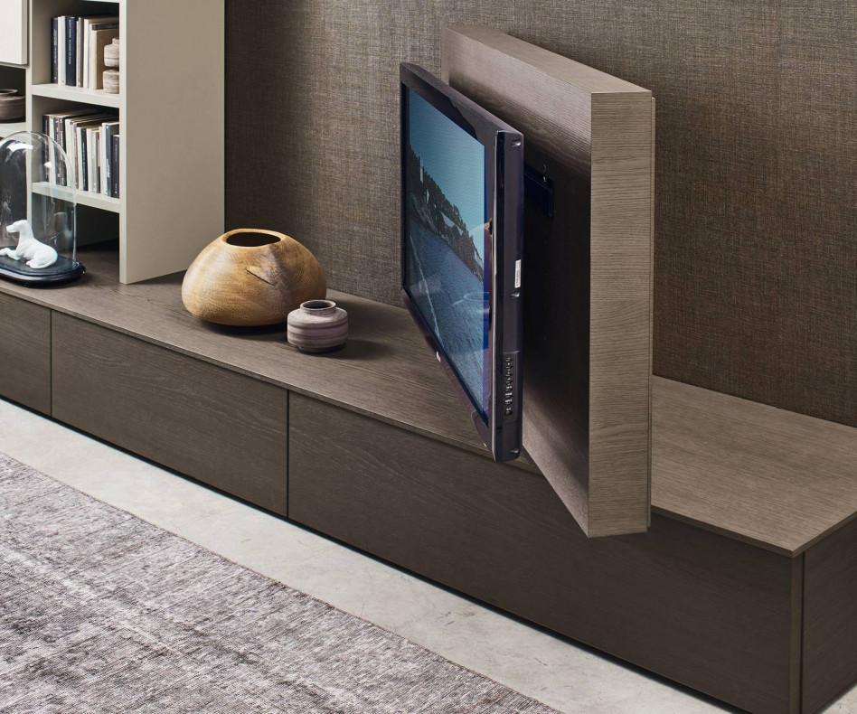 Livitalia Vision Lowboard Mit 90 Schwenkbarem Tv Paneel