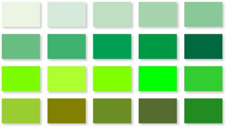 グリーンのバリエーション