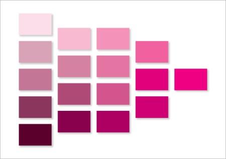 ピンク色カラーチャート