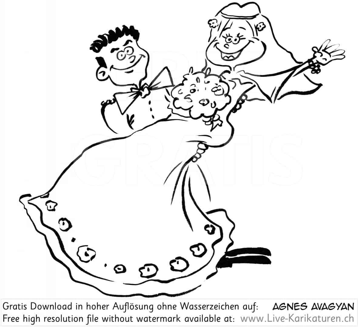 Brautpaar Hochzeit Braut heben tragen  Agnes Live