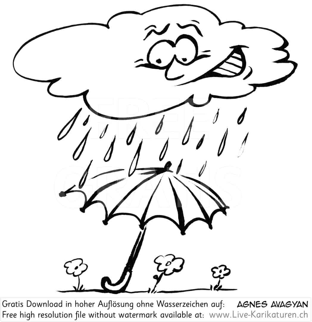 Regenwetter Regenschirm Wolke