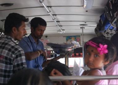 Hawkers on Sri Lankan Bus, South Sri Lanka Tour, Independent Travel