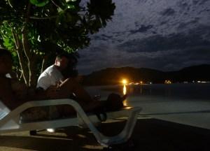 Klong Dao Beach at Night, Low season in Krabi Thailand, Southeast Asia