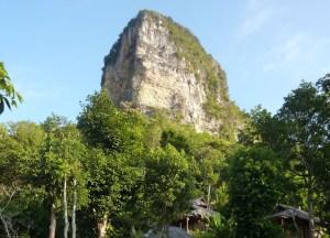 Lime Stone Cliffs Railay West, Low season in Krabi Thailand, Southeast Asia