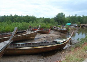 Long-Tail Boat Graveyard Ko Lanta, Low season in Krabi Thailand, Southeast Asia