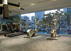 Gym Overlooking Skyline, Living cheap in Bangkok Thailand