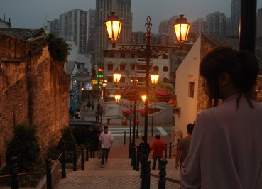 Arriving at Night, Taipa Macau Old Town, Portuguese Colonial Area, SE Asia