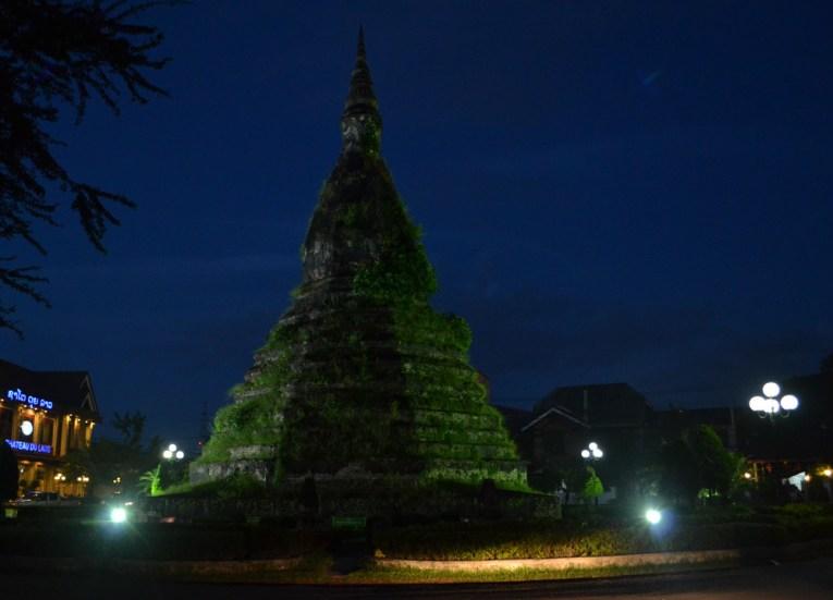 That Dam Black Stupa, Vientiane Riverside Night Market Area, Saturday Night
