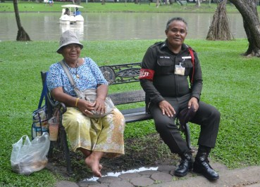 Chatuchak Park - Bangkok JJ Market Area - Park Security Ranger