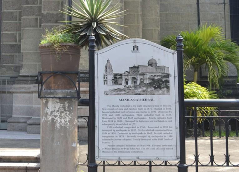 Intramuros Manila Cathedral. Manila Tourism, Philippines, Southeast Asia