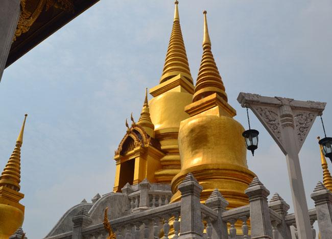Temple Chedi at Wat Tri Thotsathep Worawihan, Bangkok Southeast Asia