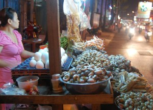 Street Food Snails in Ho Chi Minh City Saigon, Southeast Asia