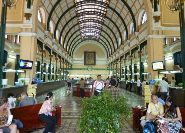 Saigon Central Post Office, Ho Chi Minh City Centre, Southeast Asia