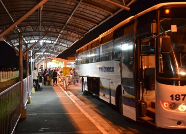 Philtranco Bus to Manila on Stopover at Clark Airport, Southeast Asia