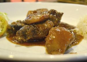 Chicken Pork Adobo in Manila, Philippines, Southeast Asia