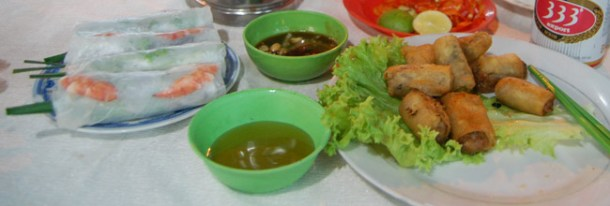 Food at Ben Thanh Night Market in Ho Chi Minh City, Southeast Asia